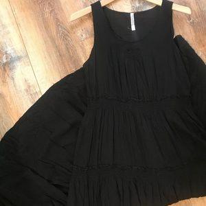 Anthropologie Black Maxi Dress